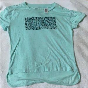 Guess girls sea foam green shirt.